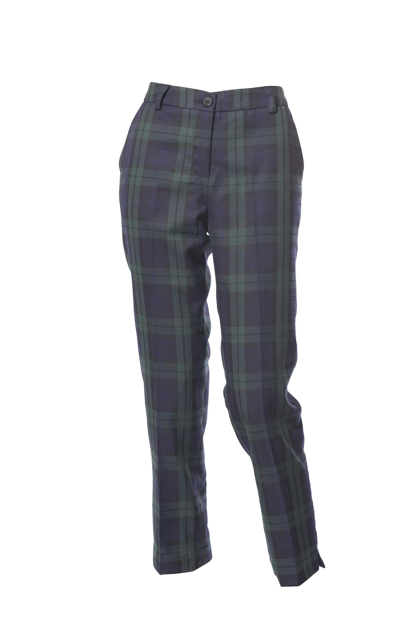 Pendleton Women's Worsted Flannel True Fit Trousers, Carnegie Worsted Flannel Tartan, 6 Made-in-usa women's wool pants updated for today with a unique fusion of hounds tooth and checks. Better-than-ever worsted fabric is soft, smooth and lightly brushed.